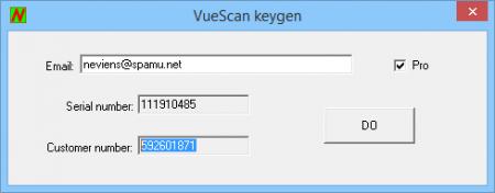 VueScan ключ