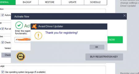 avast driver updater register key